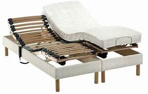 Lit articule electrique 2 personnes matelas sommier 140 x for Chambre a coucher adulte avec matelas merinos no mercy