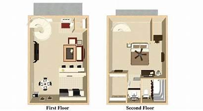 Bedroom Apartment Plans Loft Floor Apartments Indianapolis