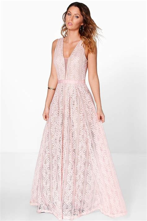 dress butik da706 boutique ali all lace plunge neck maxi dress at boohoo