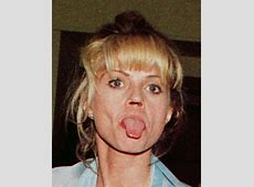 Daniella Westbrook demonstrates one of the side effects of
