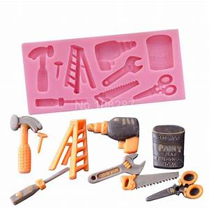 3D Silicone Cake Mold Hammer and Opener Shape DIY Fondant