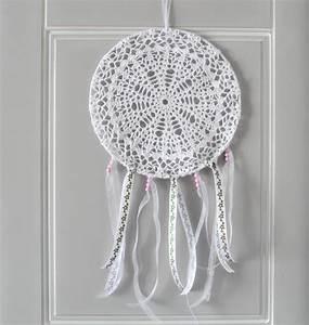 Set De Table Au Crochet : attrape r ves dreamcatcher capteur de r ve 25 cm de diam tre napperon au crochet d coration ~ Melissatoandfro.com Idées de Décoration