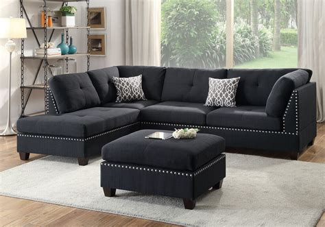 Chaise And Ottoman by Sectional Sofa Corner Reversible Chaise Nailhead