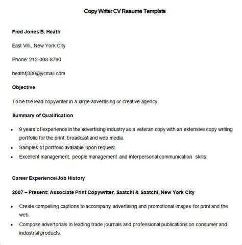 Copy Of Cv Template by Media Resume Template 31 Free Sles Exles Format