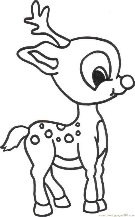baby deer coloring page  deer coloring pages