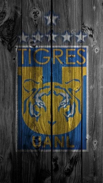 Tigres Uanl Escudo Madera Pantalla Fondo Guardado