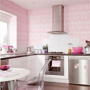 Papier peint du punch dans votre cuisine for Kitchen colors with white cabinets with papier peints design