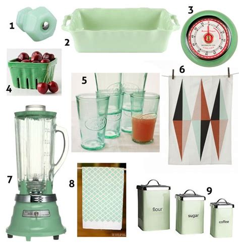 vintage green kitchen accessories mint green retro kitchen accessories for the home 6804