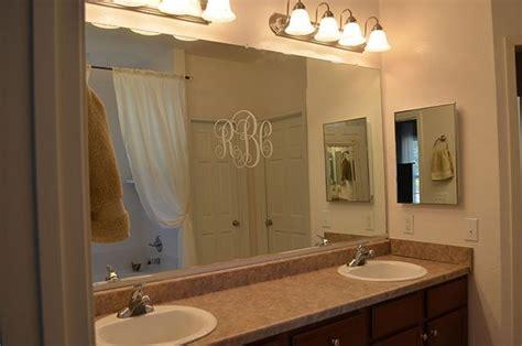 bathroom mirror trim ideas easy diy tutorial adding trim around a mirror for