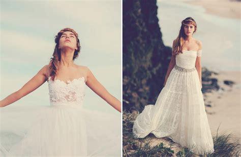Bohemian Wedding Dresses Bohemian Bride On The Beach