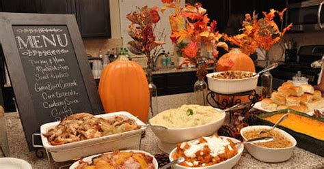 Kitchen Kabaret Thanksgiving Menu by And Seek To Show Hospitality Thanksgiving Dinner Buffet
