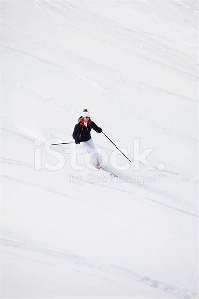 Skiing Snow Powder Female Fresh Getty Premium
