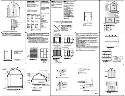 here a 10x12 gambrel roof shed plans shed plans for free