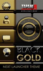 Next Launcher Theme black gold