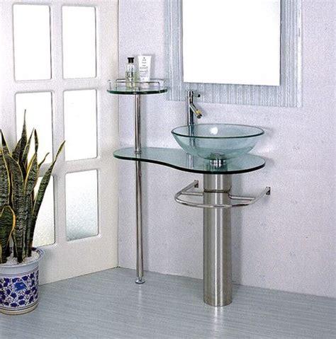 bathroom vanities pedestal vessel sink bowl 28 in glass
