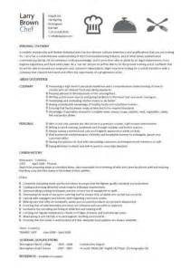 resume sle for cook chef cook chef sle resumes