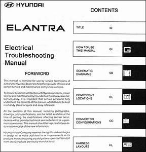 2004 Hyundai Elantra Electrical Troubleshooting Manual