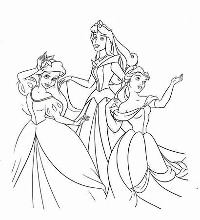 Coloring Princess Pages Princesses