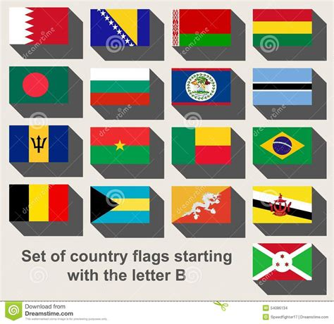 countries with the letter a set of country flags staring with the letter b stock 19501
