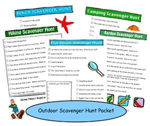 fuels backyard get togethers riddles printable scavenger hunt packets