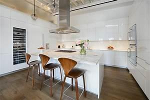 Hotte Pour Ilot Central : cuisine avec ilot central et hotte aspirante ~ Melissatoandfro.com Idées de Décoration