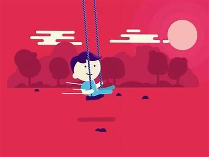 Swing Dribbble Gifs Fun Animated Animation Motion