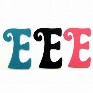 felties script letter with adhesive e pink black blue set With pink adhesive letters