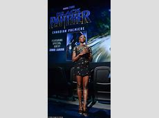 Danai Gurira dons a gold dress for Black Panther premiere