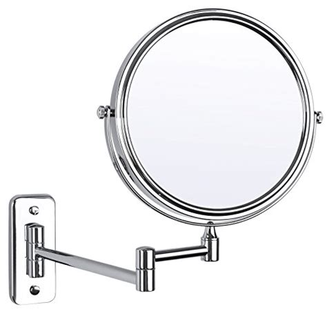 extending magnifying bathroom mirror songmics 7x magnifying wall mount makeup mirror 8 inch two 18259