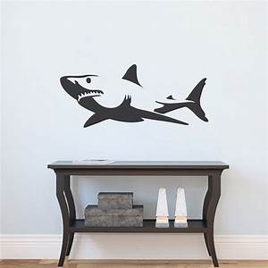 shark wall decal sticker removable shark decals large With shark wall decals