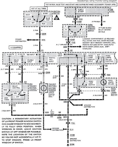1993 Buick Roadmaster Engine Diagram Wiring Schematic by 1993 Buick Park Avenue System Wiring Diagrams Headls