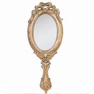 Miroir à Main : miroir main de grande taille style baroque ~ Teatrodelosmanantiales.com Idées de Décoration