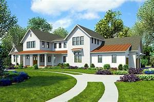 Sprawling Modern Farmhouse Plan with First-Floor Master ...