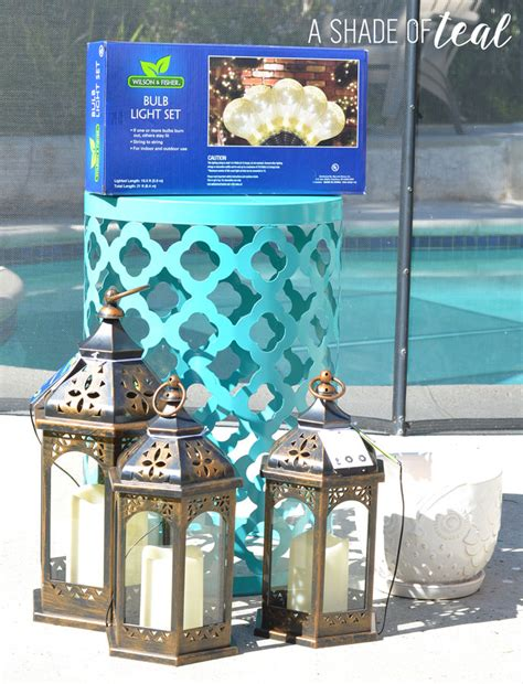 big lots patio lights diy ladder light centerpiece outdoor makeover with