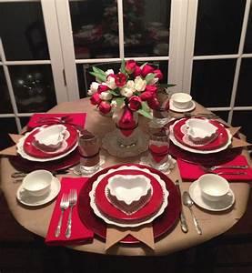 Valentine Table Setting Valentine Ideas Valentine 39s Day