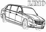 Coloring Limousine Pages Limo Print sketch template