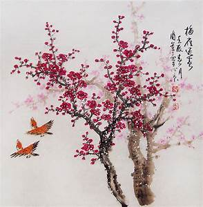 Cherry Blossom painting chinese watercolour painting original