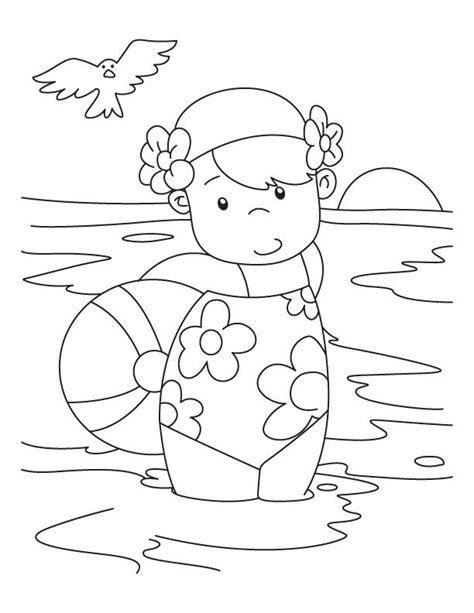 swimming coloring pages swimming coloring page az coloring pages