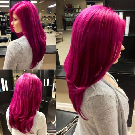 Magenta Semi Permanent Hair Color In 2019 Hair Dyed Red