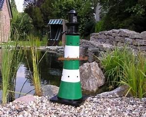 Leuchtturm Für Den Garten : figurenhalle leuchtturm wei gr n gartendekoration ~ Frokenaadalensverden.com Haus und Dekorationen