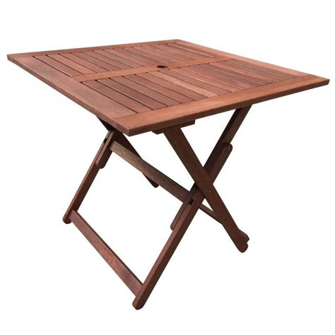 Buy Outdoor Table by Square Foldable Wooden Outdoor Dining Table 80cm Buy
