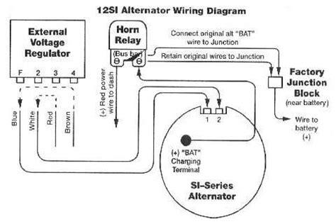 Internally Regulated Alternator Relay Bypass Diagram