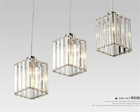 Mini Modern Crystal Chandelier Light Fixture Dining Room