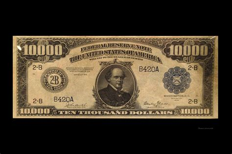 10000 dollar us currency bill photograph by woolworth