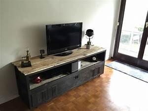 Idee Meuble Tv Fait Maison : meuble tv industriel formule 3 cir meubles et rangements par fox design id es d co et ~ Melissatoandfro.com Idées de Décoration