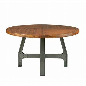 industrial style heavy wood metal coffee table With heavy wood coffee table