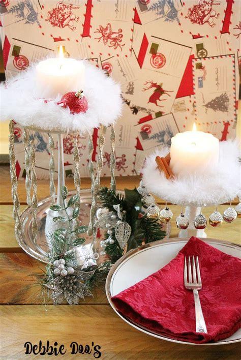 Dollar Tree Christmas Centerpiece Idea Debbiedoos