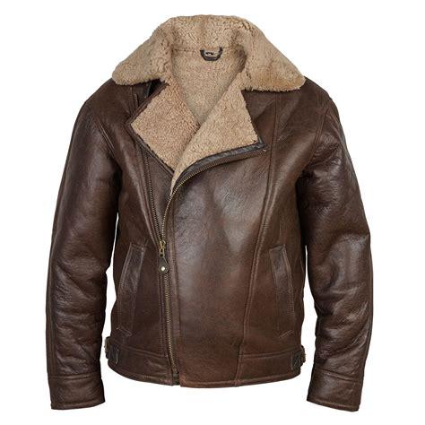 antique coat 39 s sheepskin antique style leather pilot jacket hidepark