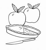 Pie Coloring Apple Pages Fruit Fresh Drawing Pumpkin Simple Template Man Printable Print Getcoloringpages Pies Action Sheets Visit Sketch Food sketch template