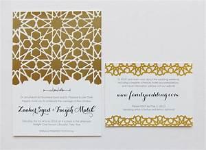 alive kicking screen printed wedding paper suite With modern muslim wedding invitations